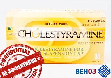 Атеросклероз: лечение холестерамином