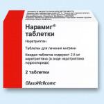 Мигрень: лечение препаратом нарамиг